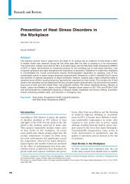 Prevention of Heat Stress Disorders in the Workplace