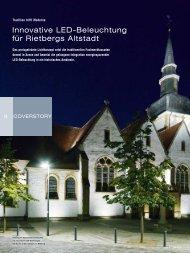 Innovative LeD-Beleuchtung für rietbergs Altstadt