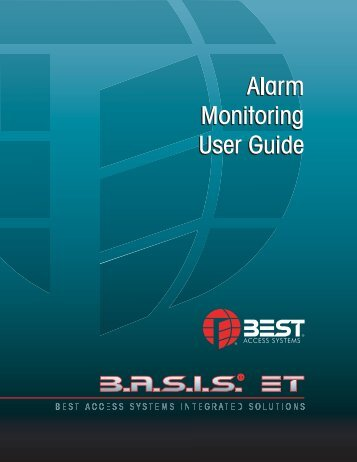 Alarm Monitoring User Guide - Best Access Systems