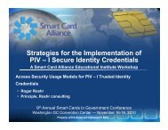Strategies for the Implementation of PIV – I Secure Identity Credentials