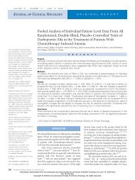 Pooled Analysis of Individual Patient-Level Data From All ...