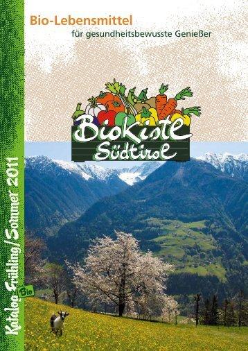 1 Katalog Frühling /S om m er - Bio Kistl Südtirol