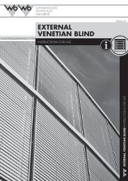 EXTERNAL VENETIAN BLIND - Wo&Wo;