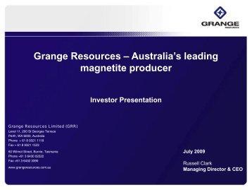 Grange Resources Limited