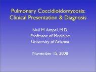 Pulmonary Coccidioidomycosis - University of Arizona