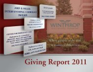 Giving Report - Winthrop University Hospital