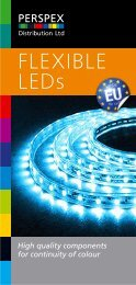 Click the link below to view our Flexible Strip LED brochure. - Perspex