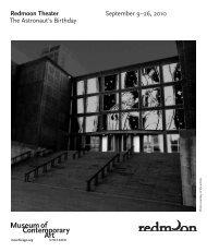 Program Notes - Museum of Contemporary Art Chicago