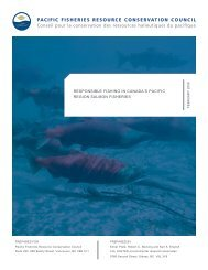 Responsible Fishing in Canada's Pacific Region Salmon Fisheries