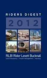 riders digest 2012 - Rider Levett Bucknall