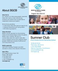 Sumner Club - Boys and Girls Club of Boston