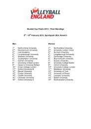 Student Cup Finals 2013 – Final Standings 9th / 10th February 2013 ...
