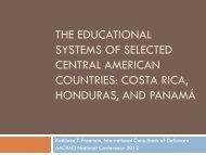 the educational systems of selected central american ... - AACRAO
