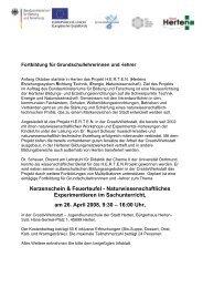 Einladung und Informationen zur Fortbildung (pdf)