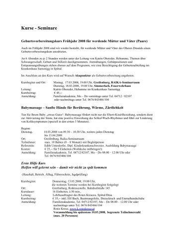 Frühjahrsprogramm SGS