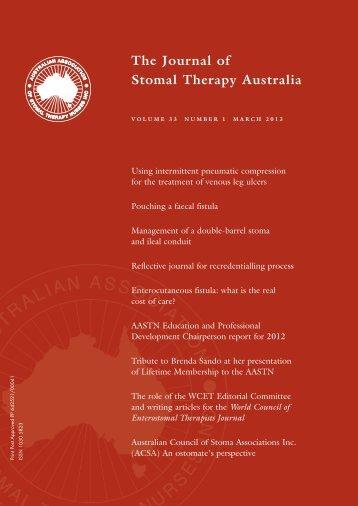 JSTA March 2013 - Australian Association of Stomal Therapy Nurses