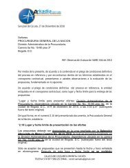 Observaciones presentadas por ARKADIA CONSULTORIAS Y ...