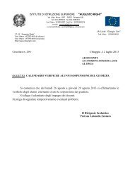 calendario verifiche alunni sospensione del giudizio