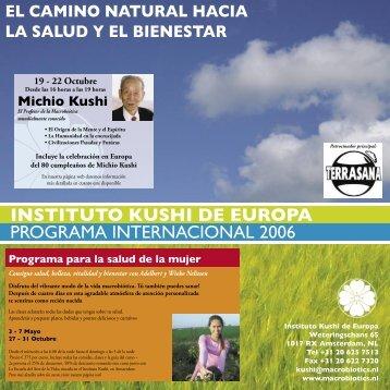 Zomerprogramma 2006 SPA.indd - The Kushi Institute of Europe