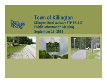 Existing Conditions - Town of Killington