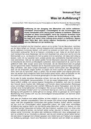 Immanuel Kant - Willensbekundung