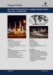NGL Fractionation Plant - Camisea Project - EPC2 - Tecna