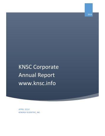 V1 Annual Report KNSC APRIL 2014
