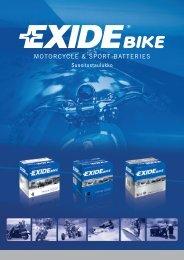 Exide-pienkoneakut suositustaulukko 2012
