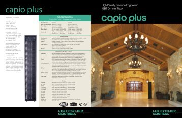 capio plus™ capio plus ™ - Philips Lighting Controls
