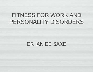 a brief look at the anti personality disorder and its manifestation When we consider personality disorders, we are looking at extremes of  behaviours  individuals with antisocial personality disorders have a tendency  to  several attempts had been made by his employer, along with the.
