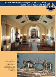 Mittelteil 175 Jahre Pfarrkirche - Pfarrei Düdingen