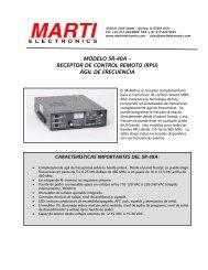 modelo sr-40a – receptor de control remoto (rpu) ágil ... - Kappa Ltda
