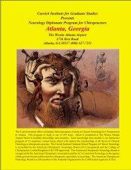 Atlanta Brochure 1 - Carrick Institute for Graduate Studies