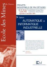 Option automatique et informatique industrielle - Ecole des mines de ...