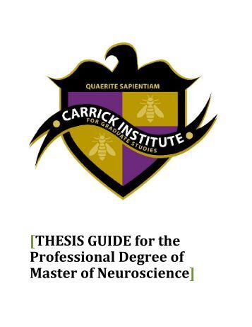 Master thesis neuroscience
