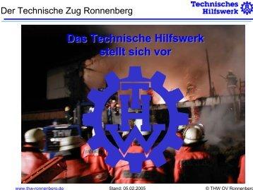 Das Technische Hilfswerk stellt sich vor Das ... - THW OV Ronnenberg