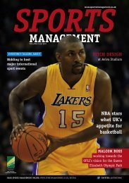 Sports Management Q1 2011 - Leisure Opportunities
