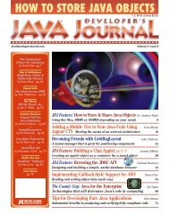 JAVA Vol 3 Issue4 - sys-con.com's archive of magazines