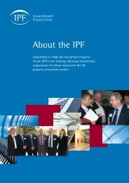 About the IPF - Investment Property Forum