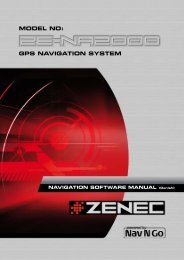 GPS NAVIGATION SYSTEM MODEL NO: - Zenec