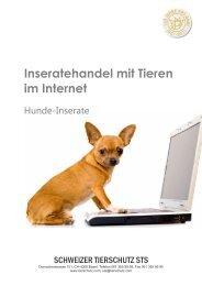 Inseratehandel mit Tieren im Internet - Schweizer Tierschutz STS