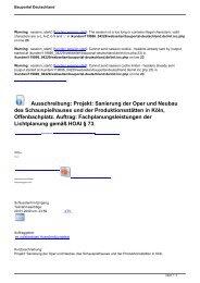 Ausschreibung: Projekt: Sanierung der Oper und Neubau des ...