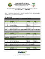 Resultado preliminar das bolsas de extensão (02/04/2013 ... - Unemat