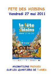 Dossier animations - Tarbes-Infos