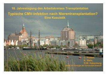 Typische CMV-Infektion nach Nierentransplantation?