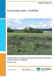 Fremmede arter i Vestfold. Pilotstudie med fokus på ... - EcoFact