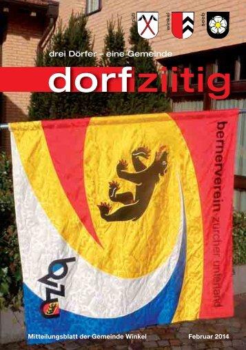 Dorfziitig Februar 2014 - Gemeinde Winkel