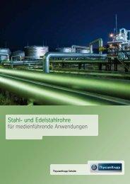 Stahl- und Edelstahlrohre - ThyssenKrupp Schulte GmbH