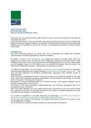 Jeudi 10 janvier 2013 Cérémonie des vœux Discours de ... - Joigny