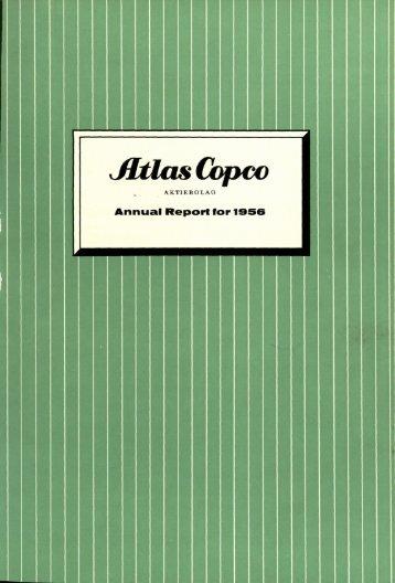 Annual Report for I956 - Atlas Copco